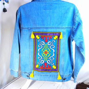 Oh My Disney  Aladdin Magic Carpet Denim Jacket